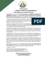 Nota de Prensa de La Marcha Contra Monsanto