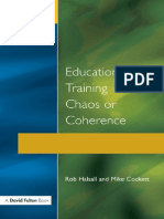 (Advances in Earthquake Engineering) Rob Halsall, Michael Cockett-Education and Training 14-19_ Chaos or Coherence_-Routledge (1996).pdf