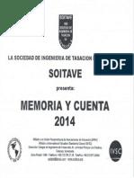 Memoria y Cuenta 2014-2015 Soitave