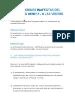 Operaciones Inafectas Del Impuesto General a Las Ventas