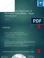 Hydrothermal Treatment of Municipal Solid Waste-PR+RP