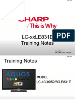 Sharp Lc-40le831e Lc-xxle831e Service Manual Training