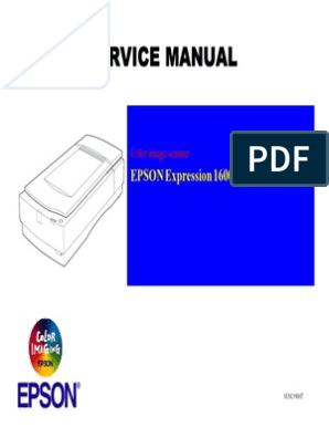 EPSON Expression 1600_1600pro Service Manual | Image Scanner