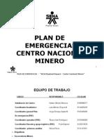 PLAN DE  EMERGENCIAS CENTRO NACIONAL MINERO
