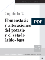 Alteraciones del potasio y estado acido base