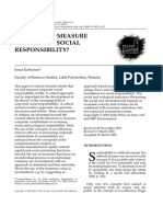 Should We Measure CSR