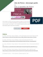 200 Libros y Apuntes de Fisica
