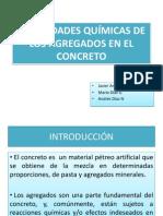Propiedades Quimicas de Los Agregados en El Concreto