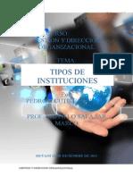 Tipos de Instituciones