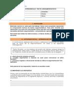 Guía de Aprendizaje - Texto Argumentativo (2do Ciclo)
