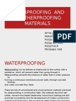 Waterproofing and Weatherproofing Materials