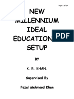 Presentation on New Millennium Ideal Educational Setup by Khalid Rehman Khan 03219828675