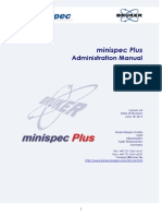 Minispec Plus Administration