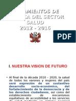 Lineamientos Politica Sector Salud