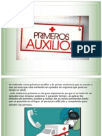PRIMEROS AUXILIOS  power point