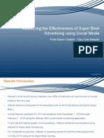 Super Bowl Social Media Results Feb 8, 2010