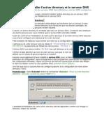 Comment Installer l'Active Directory Et Le Serveur DNS