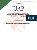 Trabajo Academico- Matematica Financiera