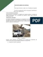 Trasporte Minero en Canteras
