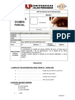 Modelo de Examen Parcial Ingles i Com