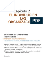 Cap 2- El Individuo en Las Organizaciones