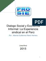 Dialogo Social y Economía Informal La Experiencia Sindical en El Perú
