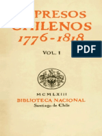 Impresos Chilenos 1776-1818 Vol.I - Guillermo Feliu Cruz