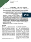 Biotehcnology in Socio-economic