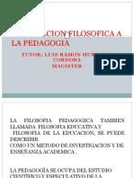 Vinculacion Filosofica a La Pedagogia