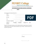 Formulir Pendaftaran Pelatihan Google Adsense Yapenbit (1)