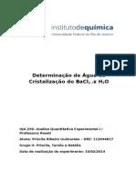 1.Determinação de Água de Cristalização Do BaCl2