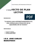 Royecto de Plan Lector