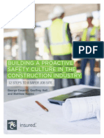Progress Report Proactive Safety Culture in Construction