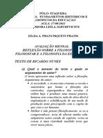 Reflexão Do Texto a Filosofia, o Filosofar e a Filosofia Da Educação