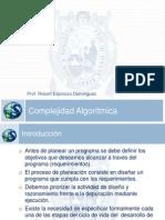 Sesión 01 - Complejidad Algorítmica