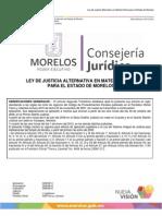 Ley de Justicia Alternativa en Materia Penal Morelos 2013