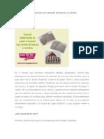 Tutorial de Papel Artesanal Con Cartones de Huevos y Revistas