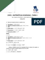 23052 - Matematicas Avanzadas - 2015 - Sem 01 - Tarea 01 - Mg c Ing. Civil. Mec. Marcelo Gallardo Maluenda