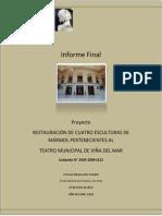 Informe Final Proyecto Conservación y Restauración de 4 esculturas de mármol