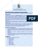 Programa Curso Instalador Electrico Conducente a Certificacion Sec