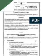 Decreto 3600 de 2009 (Inteligencia y Contrainteligencia)