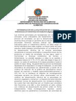 Determinación de La Inactivación de La Enzima Peroxidasa en Muestras de Rábanos Resumen