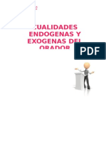 Cualidades Endogenas y Exogenas Del Orador