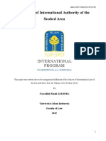 The Role of International Authority of the Seabed Area