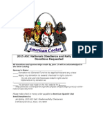 2015 ASC Natl Trophy Obedience and Rally Donations RequestsDocument
