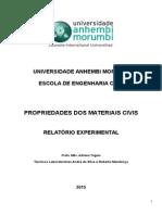 Relatório_Aula de Laboratório_Propriedades Dos Materiais