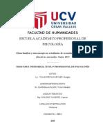 Clima Familiar y Autoconcepto en Estudiantes de Secundaria de Instituciones Educativas Nacionales
