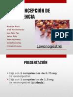 Medicamento de Emergencia Levonogestrel