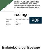 Anatomía y patología del esófago