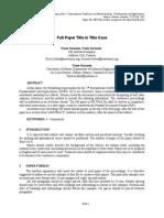 ICNFA 2011 Paper Template